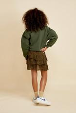 LES COYOTES DE PARIS Isabella mini leopard green rok