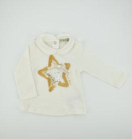 EMC Witte t-shirt - gouden ster BX1715