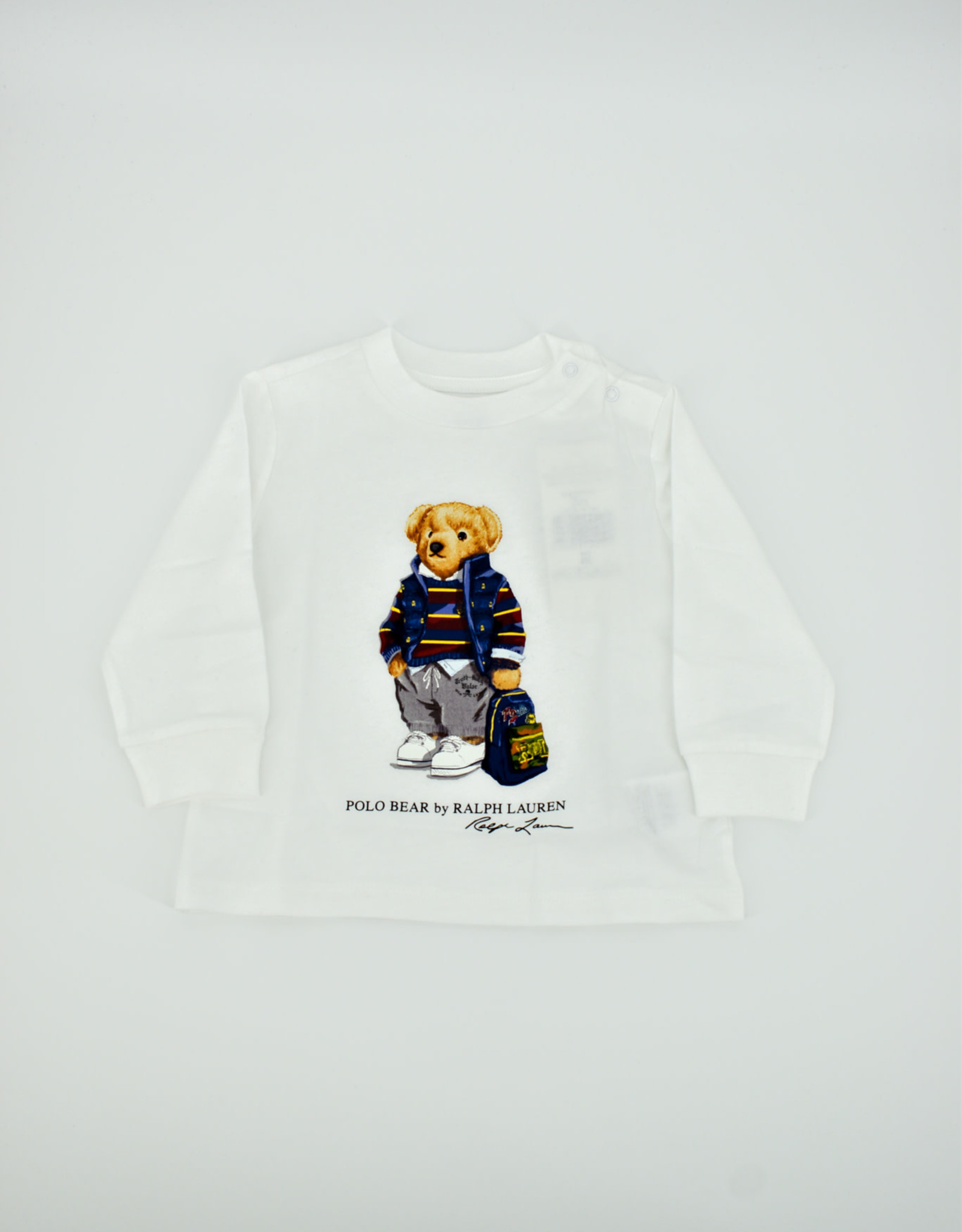 RALPH LAUREN Ls Cn-Tops-T-Shirt White