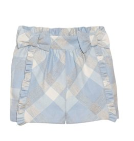 PATACHOU Girl short blue/grey check