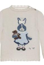 PATACHOU Girl sweater knit l.grey