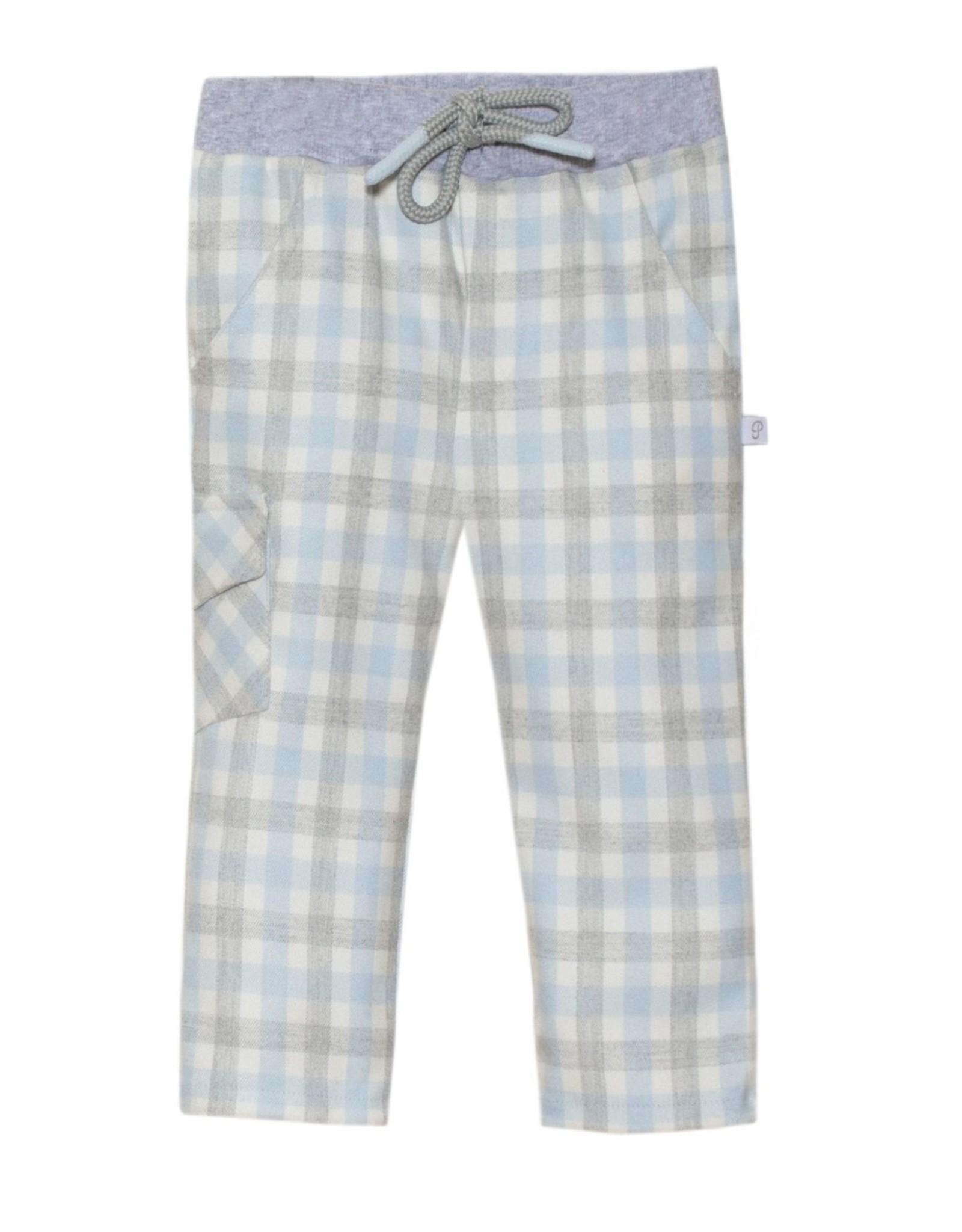PATACHOU Boy pant blue check