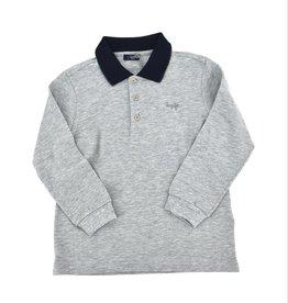 IL GUFO Polo Shirt L/S Grey/Green