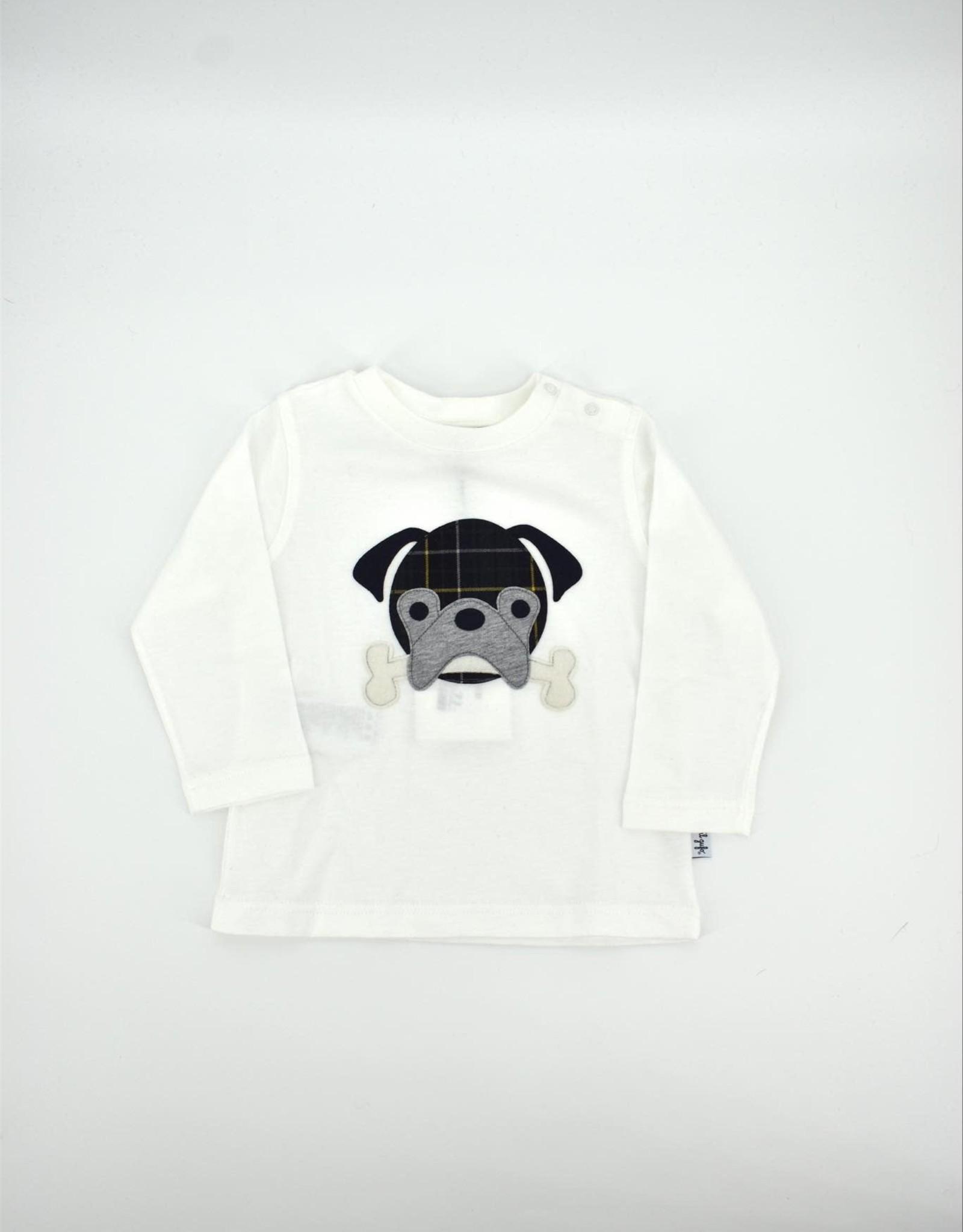 IL GUFO T-Shirt L/S Milk/Forest Green