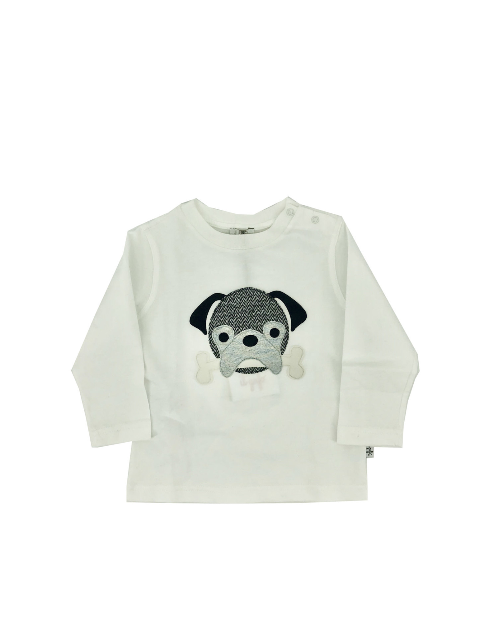 IL GUFO T-Shirt L/S Milk/Asphalt Grey