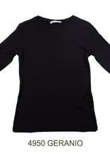 ELSY Geranio T-Shirt Viscosa Nero