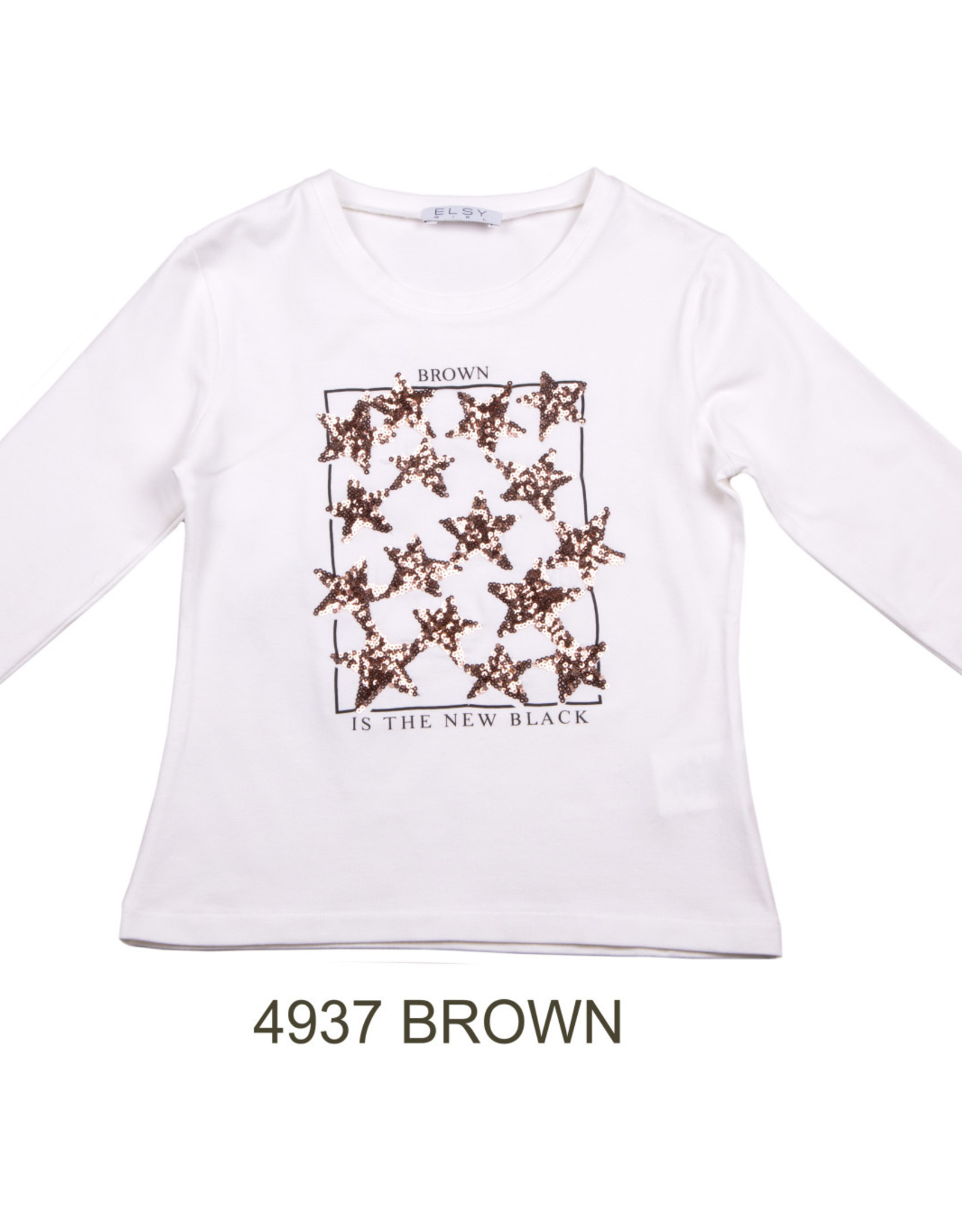 ELSY Brown T-Shirt Lunga Nero