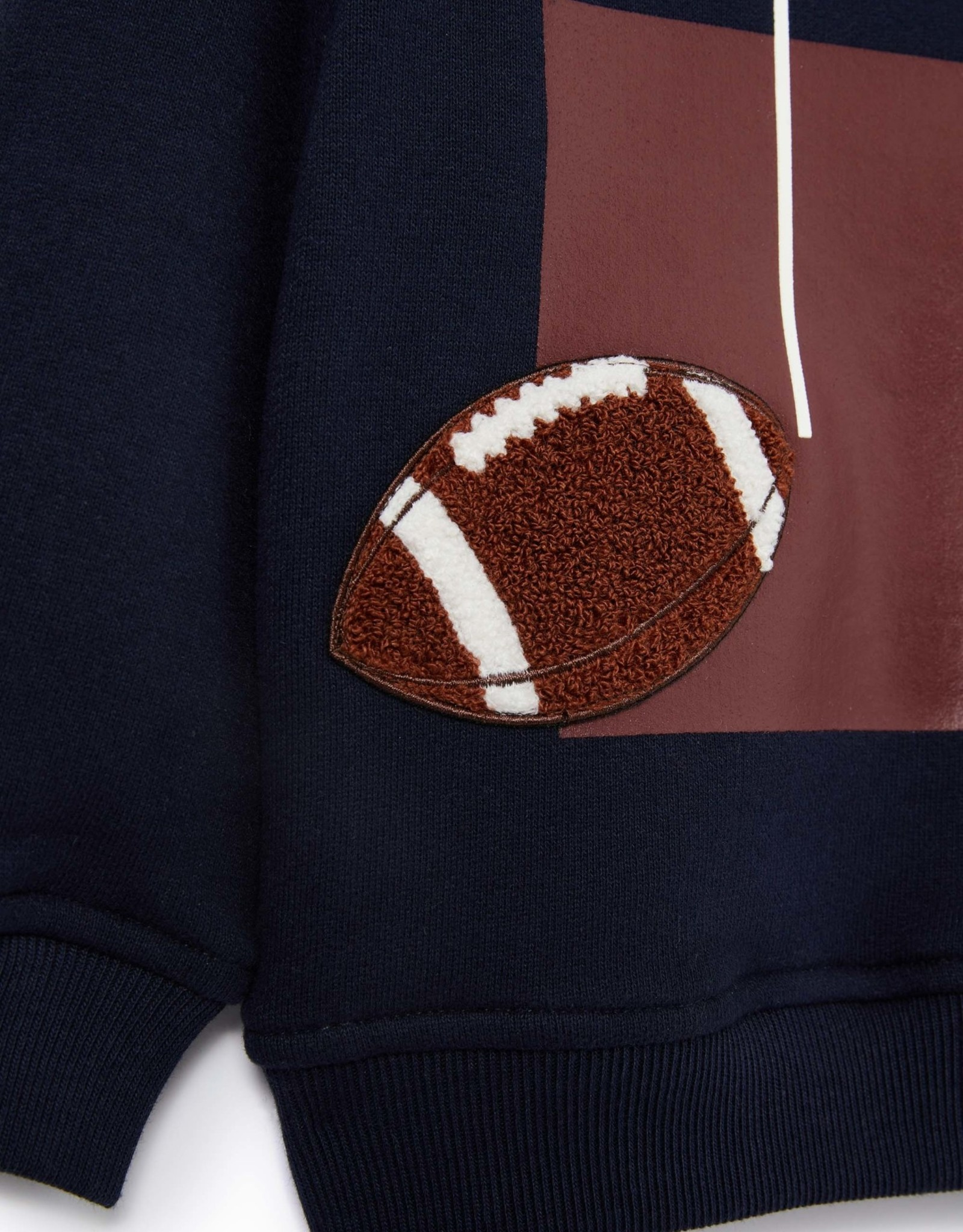 IL GUFO Cotton Sweater Navy Blue/Burgundy