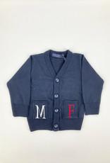 MANUELL & FRANK Gilet blauw/rood/wit MF4155N