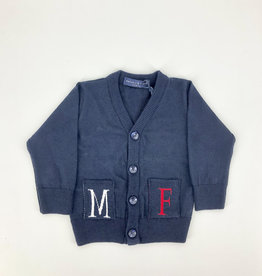 MANUELL & FRANK Gilet blauw/rood/wit MF4155N
