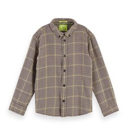 SCOTCH & SODA Yarn dyed check shirt with button down collar 0217-Combo A