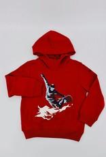 IL GUFO Cotton Sweater Flame Red/Dark Blue