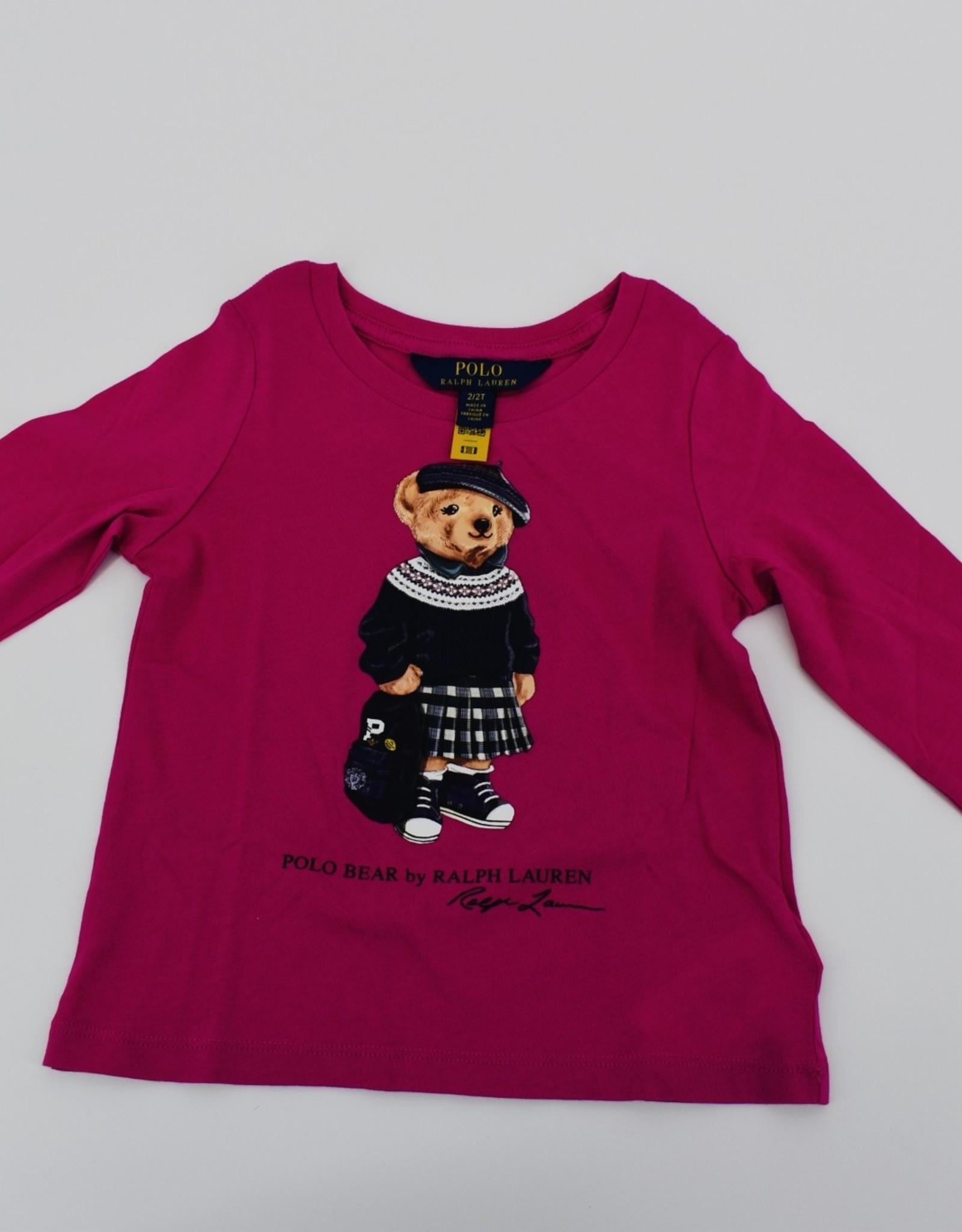 RALPH LAUREN Bckpck Bear-Tops-Knit College Pink