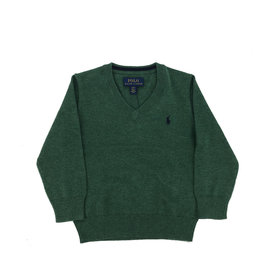 RALPH LAUREN Ls Vn-Tops-Sweater Verano Green Heather
