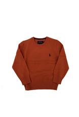 RALPH LAUREN Ls Cn-Tops-Sweater College Orange Heather