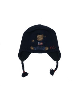 RALPH LAUREN Bear Earflap-Apparel Accessories-Hat Navy