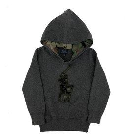 RALPH LAUREN Ls Hood-Tops-Sweater Boulder Grey