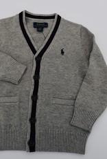 RALPH LAUREN Ls Cardigan-Tops-Sweater Dark Sport Heather