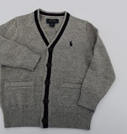 RALPH LAUREN Ls Cardigan-Tops-Sweater Dark Sport Heather