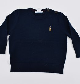 RALPH LAUREN Ls Cn Po-Tops-Sweater Navy