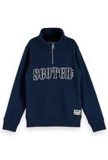 SCOTCH & SODA Half-zip sweat with artwork 0002-Night