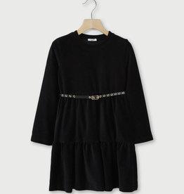 LIU JO Kleed velours zwart