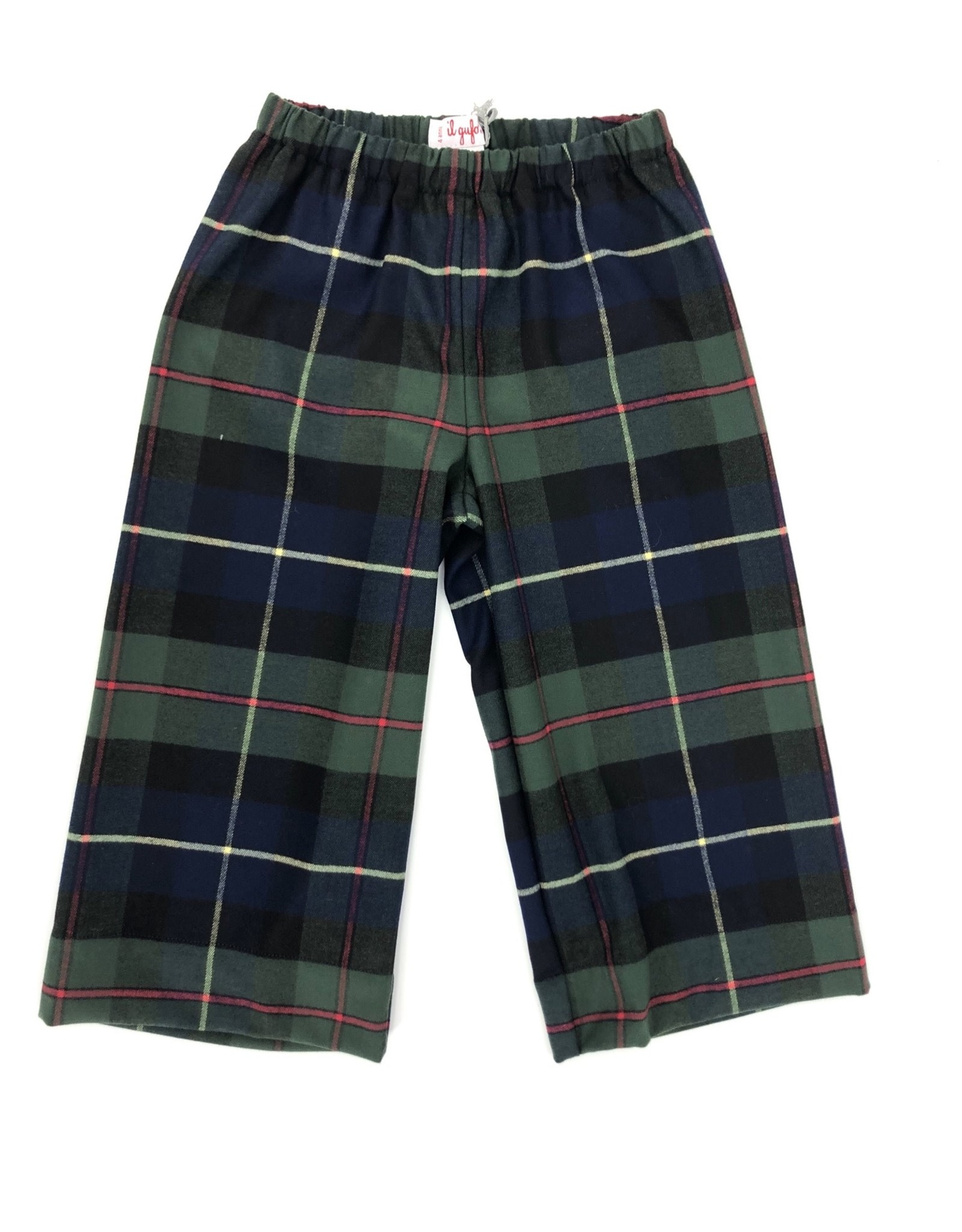 IL GUFO Trousers Dark Blue Geruit