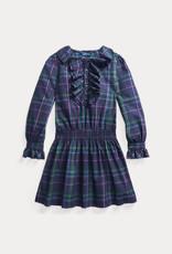 RALPH LAUREN Plaid Dress-Dresses-Woven Navy Multi