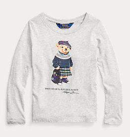 RALPH LAUREN Bckpck Bear-Tops-Knit Heather Grey