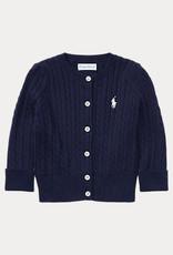 RALPH LAUREN Mini Cable-Tops-Sweater Hunter Navy