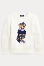 RALPH LAUREN Bear Sweater-Tops-Sweater Clubhouse Cream