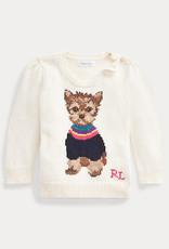 RALPH LAUREN Dog Sweater-Tops-Sweater Clubhouse Cream
