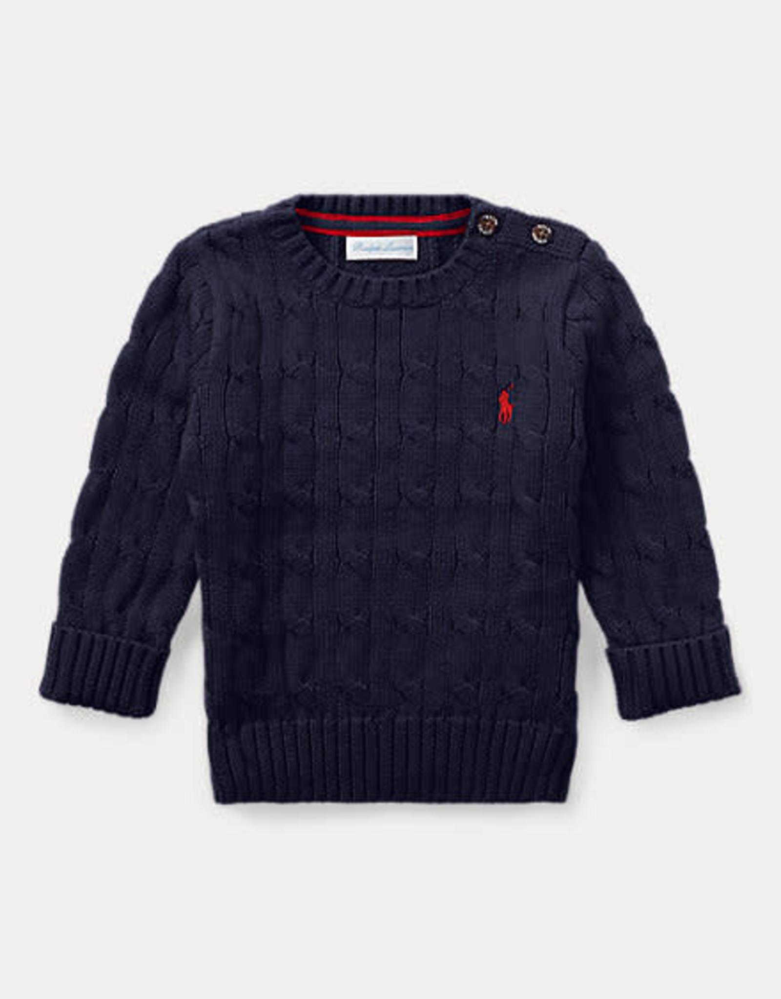 RALPH LAUREN Ls Cable Cn-Tops-Sweater Rl Navy