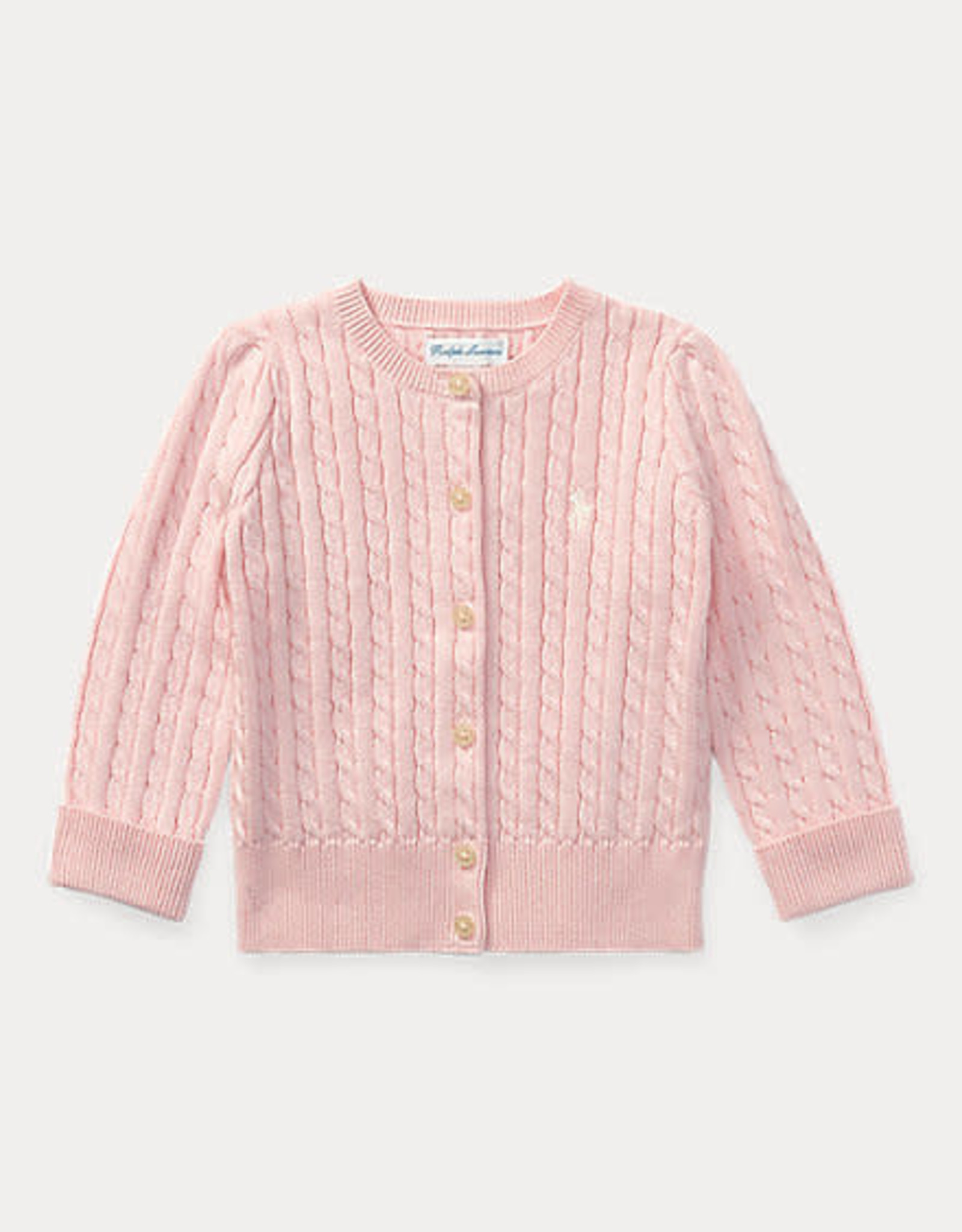 RALPH LAUREN Mini Cable-Tops-Sweater Hint Of Pink