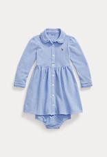 RALPH LAUREN Solid Dress-Dresses-Knit Harbor Island Blue