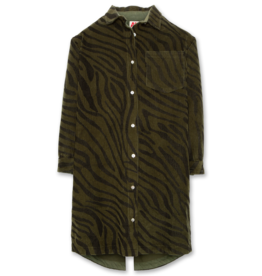 AMERICAN OUTFITTERS tiger collar shirt dress Dark olive