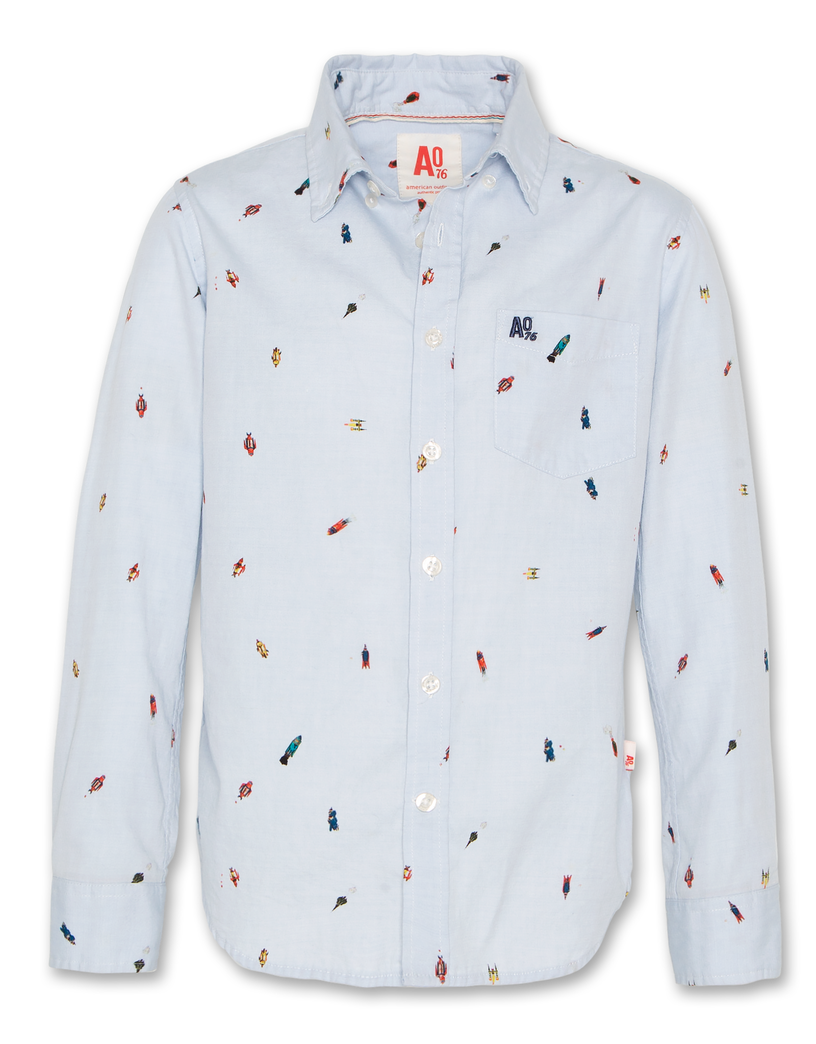 AMERICAN OUTFITTERS scifi button down shirt Blue