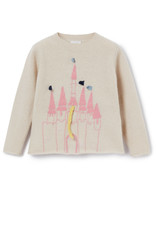 IL GUFO Sweater Natural/Sweet Pink