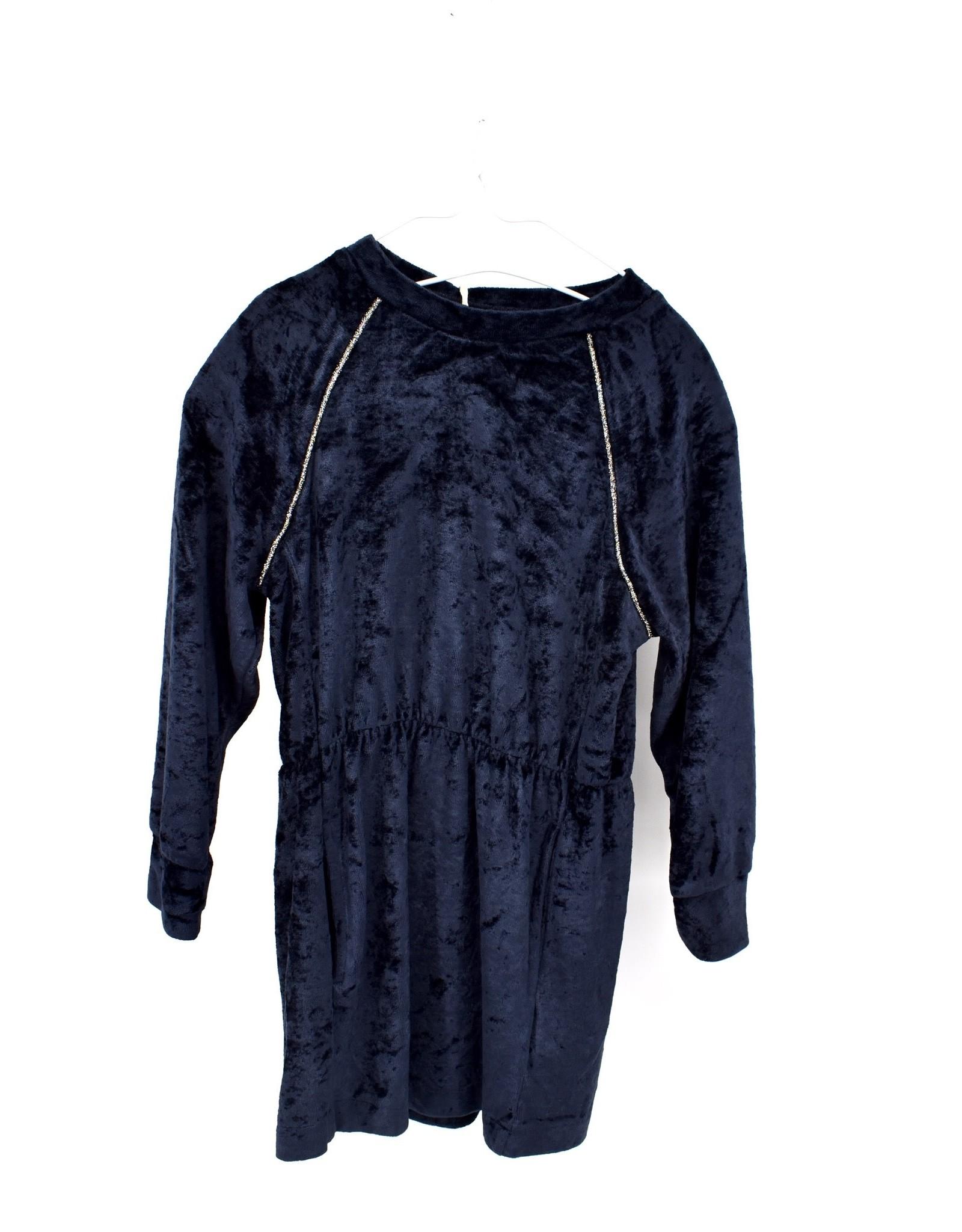 AMERICAN OUTFITTERS velvet dress Night Blue