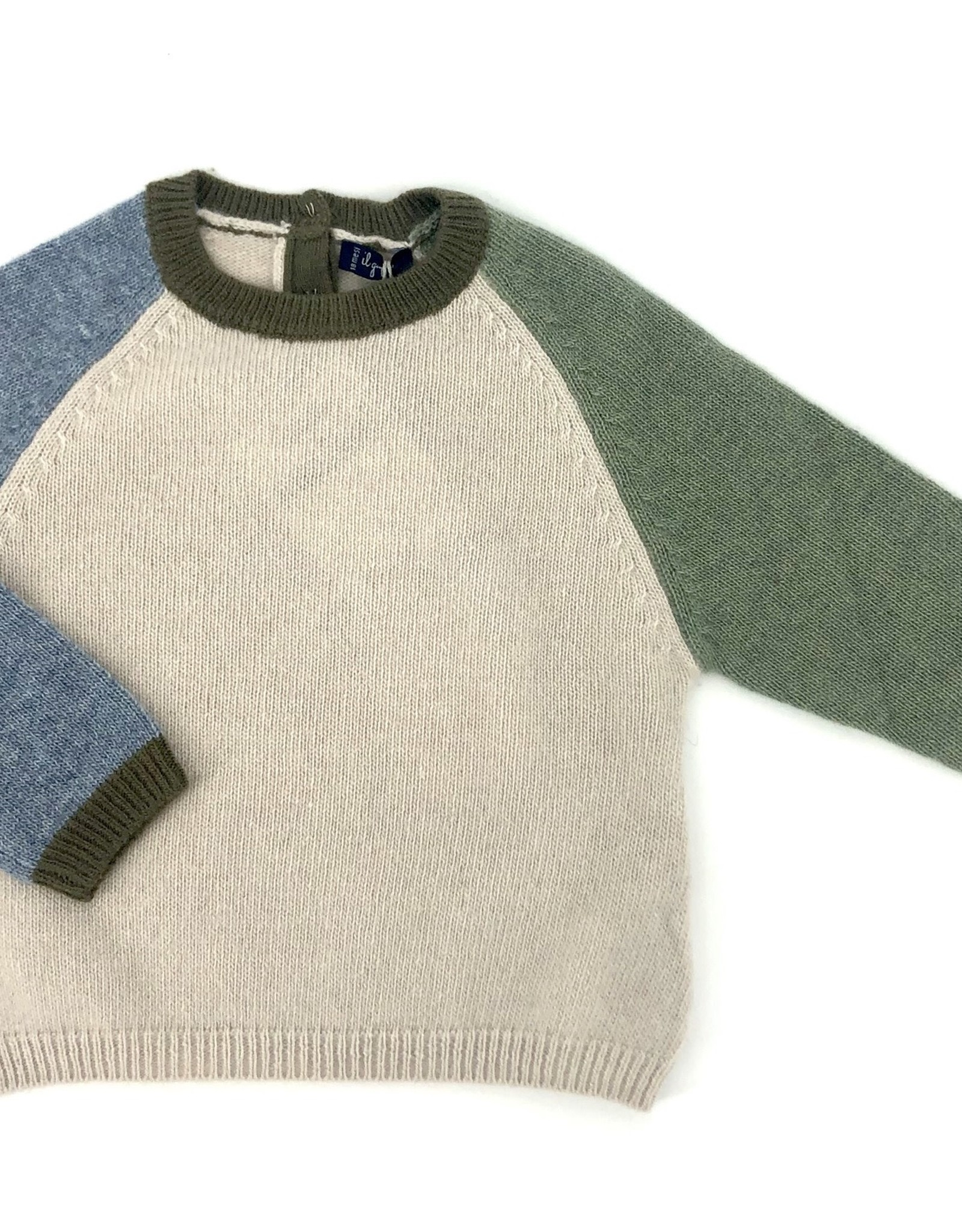 IL GUFO Sweater Natural/storm Blue