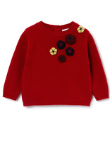 IL GUFO Sweater Flame Red/Burgundy