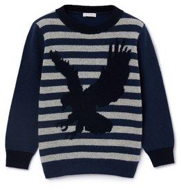 IL GUFO Sweater Ocean Blue/Cloud Grey