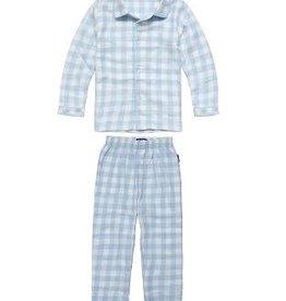CLAESEN'S Boys pyjama flannel baby blue checks