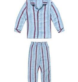 CLAESEN'S Boys pyjama flannel blue stripes