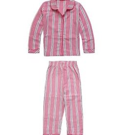 CLAESEN'S Girls pyjama flannel pink stripes