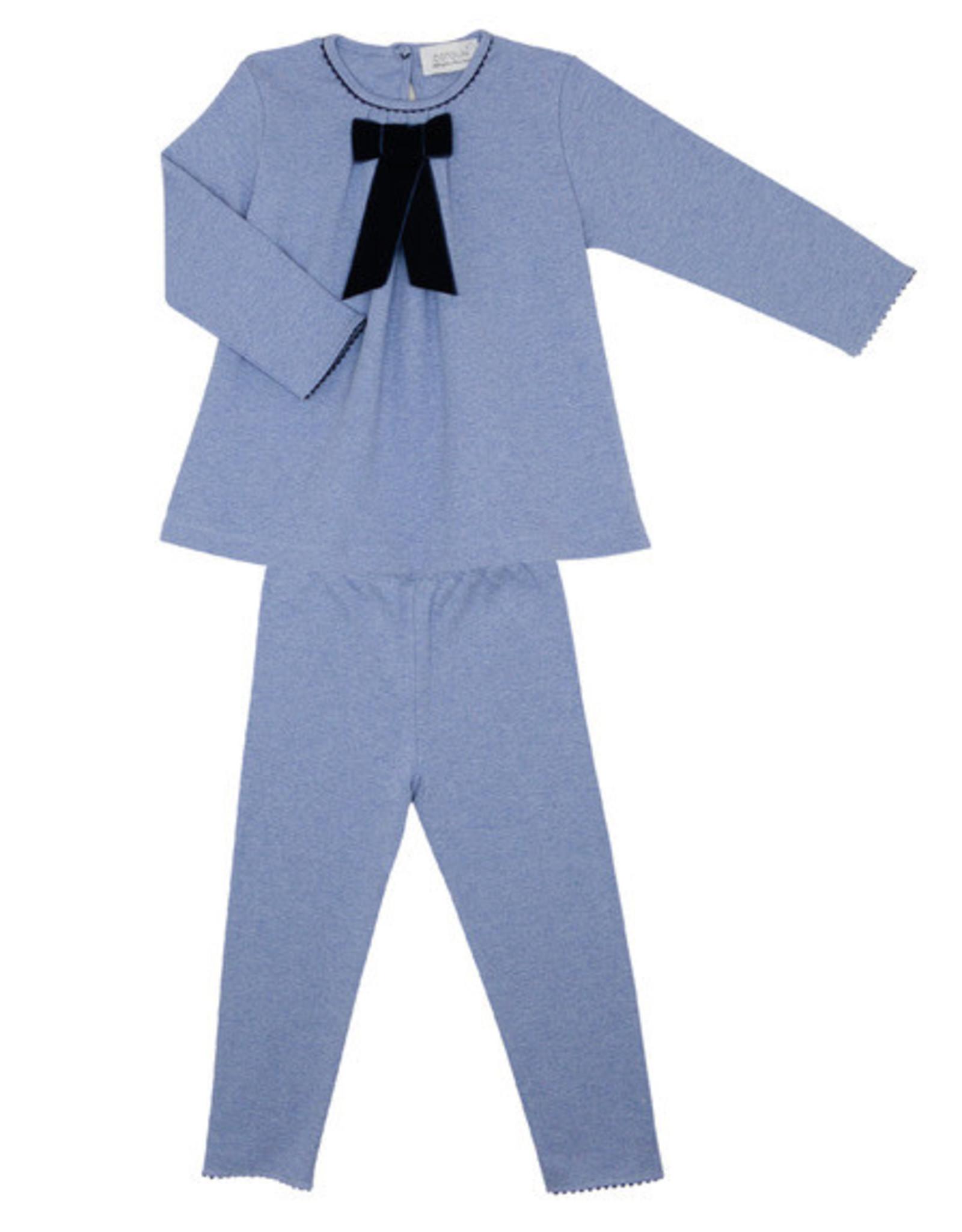 COTOLINI Pyjama Odette ciel chiné