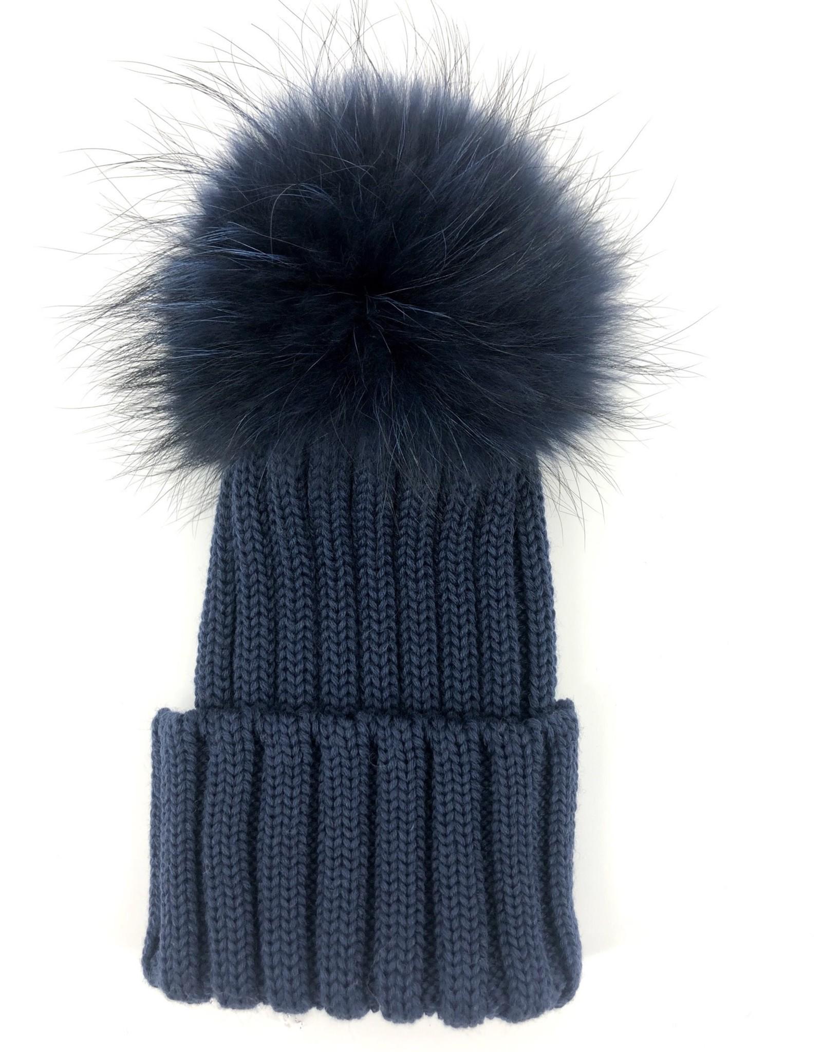 CATYA Muts jeansblauw pels