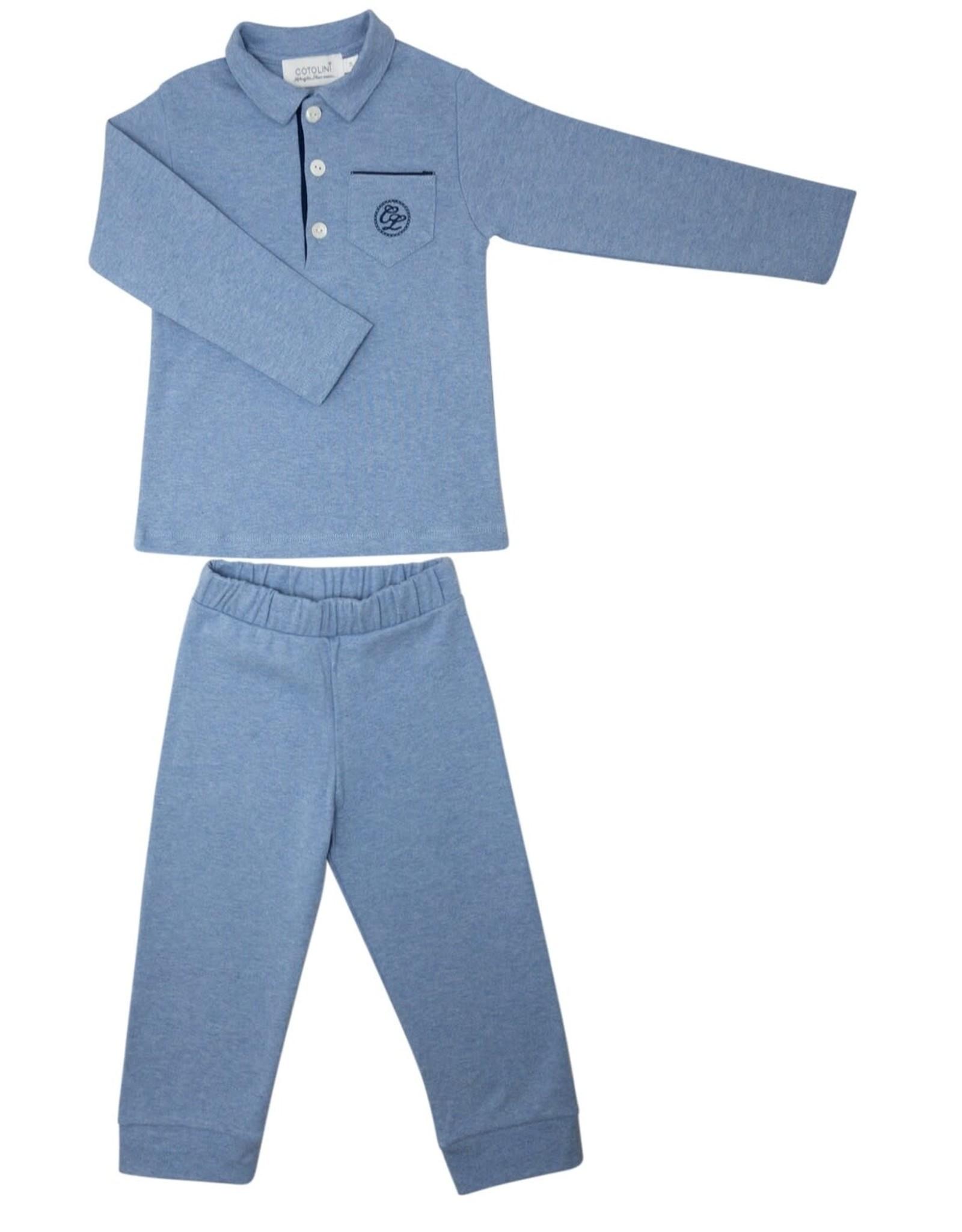 COTOLINI Pyjama Cyrille ciel+marine