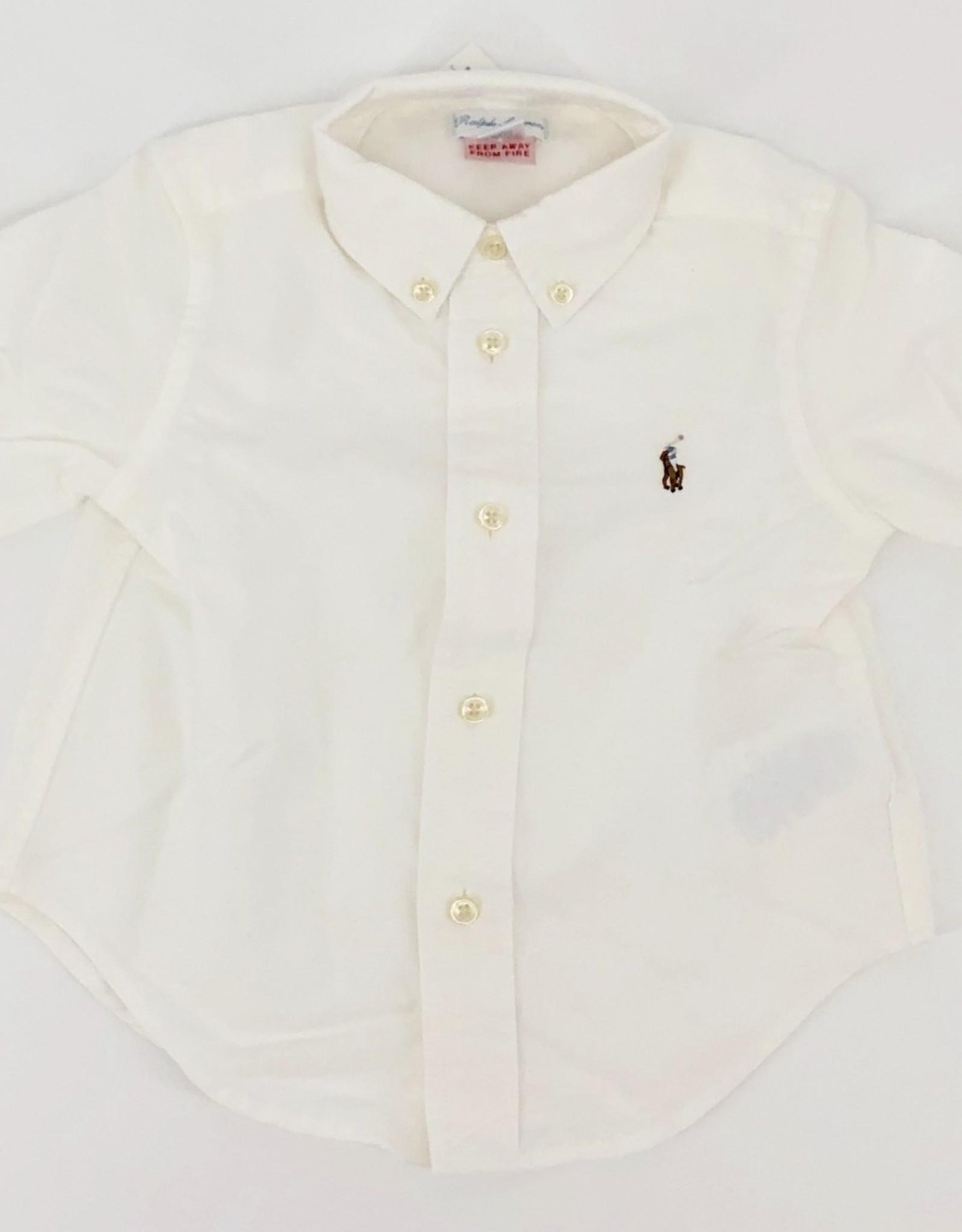 RALPH LAUREN RALPH LAUREN Hemd wit bruin paard