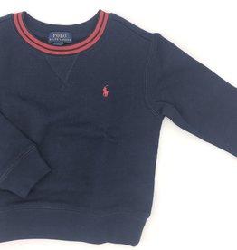 RALPH LAUREN RALPH LAUREN sweater blauw rode kraag